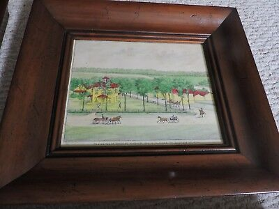 ANTIQUE FRAMED 19th CENTURY WATERCOLOR ON PAPER PAINTING, THOMAS PARKER HOME