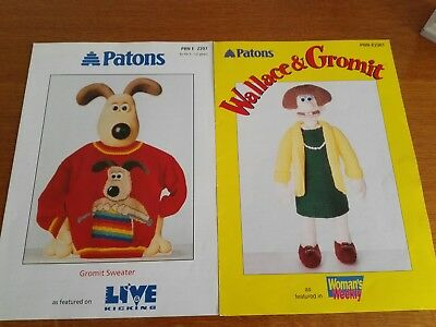 Patons Wallace And Gromit Knitting Pattern Wendolene Toy Gromit
