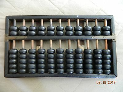 Vintage Chinese Abacus by Hop Cheong Tai, 77 Pieces, Bronze/Wood