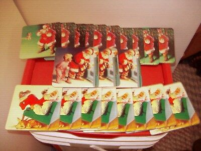 (21)   Coca-Cola Drink Coasters Santa/fawn Santa/child Santa/dog (Reduced)