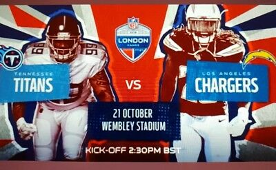 2 Tickets NFL London 2018 TITANS vs. CHARGERS