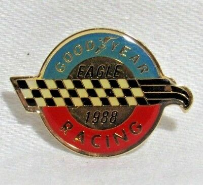 Goodyear Tires Racing Eagle Lapel / Hat Pin 1988 Auto Races Vintage