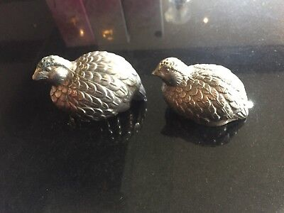 Vintage Nickle Silver Plate Bird Salt and Pepper Pot