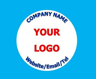 Personalised Business Name Stickers Thank You Seals Your Logo Labels Address GL