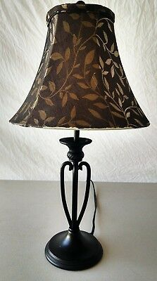 Desk Table Lamp 20 Wrought Iron Metal Black With Gold