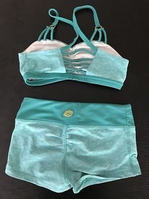 California Kisses 2 Piece Dance Outfit Green