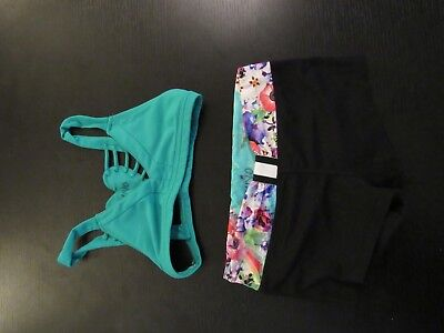 California Kisses 2 Piece Dance Outfit Green & Floral