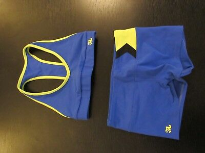 Jo Jax 2 Piece Dance Outfit Blue and Yellow