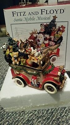 Fitz and Floyd Musicals SANTA MOBILE Plays We Wish You A Merry Christmas NIB