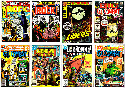 lot of 8 Silver Age OUR ARMY AT WAR with SGT. ROCK & G.I. COMBAT  DC war comics