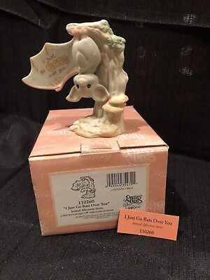 "Precious Moments ""i Just Go Bats Over You"" 110260 Rare Bat Animal Affections/new"