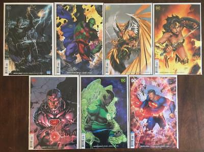 Justice League # 1 2 3 4 5 6 7 Jim Lee Variant Covers Full Set Run Dc Nm+ Snyder