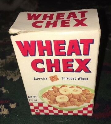 Vintage Wheat Chex Cereal Box - Single Serving SAMPLE Box
