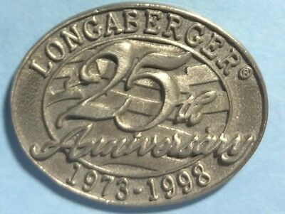 1973-1998 Longaberger 25th Anniversary Tie-tack or lapel Pin