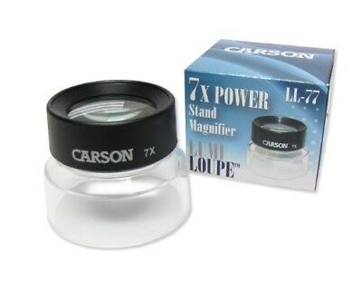 Carson LumiLoupe 7X Power Stand Magnifier With Dual Lens (LL