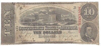 CSA $10.00 Note T59 1863