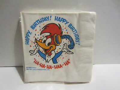 Vintage Woody Woodpecker Napkins New In Package Circa 1979
