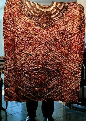 NEW Authentic West AFRICAN KAFTAN 5X-9X+ Brocade, Heavily Embroidered Front/Back