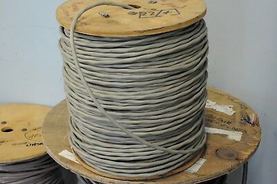 One 1,000' reel of #22/4 stranded un-shielded cable in gray sheath