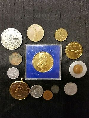 Coins tokens medals Lot random & unknown