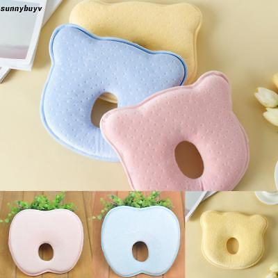 Soft Baby Cot Pillow Prevent Flat Head Memory Foam Cushion Sleeping RR3