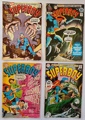 Superboy 153, 164, 172 &  Silver Age Comic Book Lot Neal Adams covers ROUGH lot!