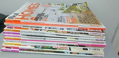 Real Homes Magazines - 11 Issues - Great Condition - Home Ideas and Inspiration