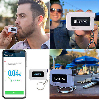 BACtrack  Alcohol Tester - C6 Keychain Breathalyzer -Police-Grade Accuracy -NEW
