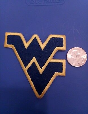 """WV West Virginia Mountaineers Vintage Embroidered Iron On Patch 3"""" x 3"""""""