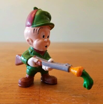 "Vintage 1988 Pvc Figure Elmer Fudd  2 1/2""  Applause Carrot In Shotgun (Vin16)"