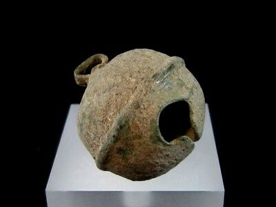 Amazing Roman Period Bronze Oval Bell In As Found Condition+++
