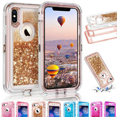 360° Quicksand Liquid Bling Glitter Case Cover For iPhone Xs XR Xs Max 7 8 Plus