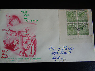 AUSTRALIAN FIRST DAY COVER NEW 2d STAMP with 4 STAMPS 1951 #fdc7