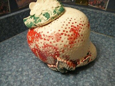 Vintage Strawberry Cookie Jar American Bisque Sears USA  Ceramic Collectible