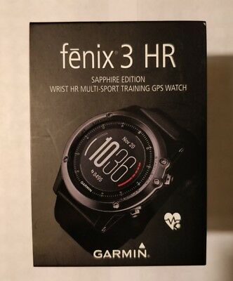 Garmin fenix 3 HR Sapphire Glass GPS Watch