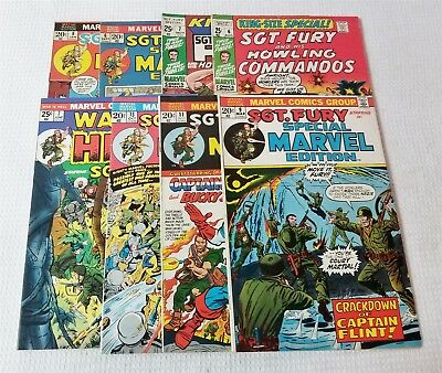 #73 Vintage Marvel Sgt Fury King Size 6, 7 Special Ed. 6 8 9 11 13 War Is Hell 7