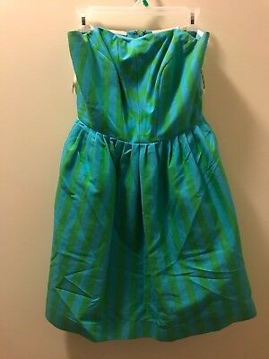 36c10a27e01d9c Lilly Pulitzer 10 Eve Dress Striped Swizzle Strapless Fit Flare (NEW MSRP  $298)