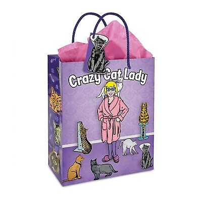 Archie McPhee Crazy Cat Lady Gift Bag