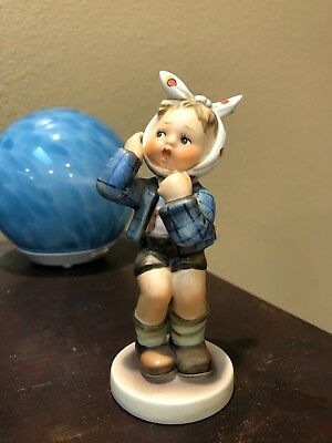 Boy With Toothache Hummel Figurine By W. Goebel -#217 ca 1951 ESTATE Vintage