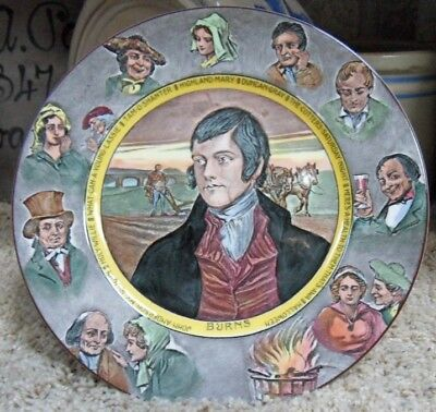 Royal Doulton Robert Burns, The Poet Seriesware Plate D6344 Made in England