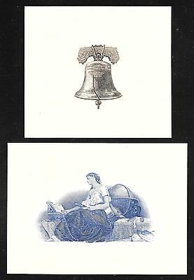 Engravings - Two (2) Beautiful Engraved Vignettes - CU - Flawless Condition