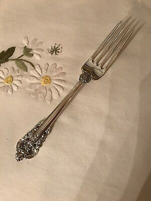 "Wallace Grande Baroque Sterling Dinner Fork(s) 7-1/2"" Post 1940 No Monograms"