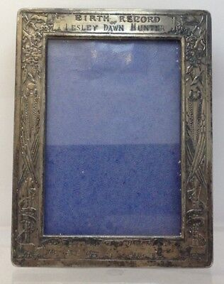 Antique Webster Co. Sterling Silver Engraved Small Picture Frame (4.25 X 3.25)
