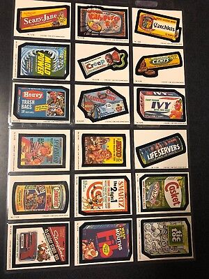 1987 O-PEE CHEE WACKY PACKAGES COMPLETE SET 1-66 CANADA with Extras
