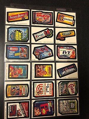 1987 O-Pee Chee Topps Wacky Packages Complete Set 1-66  White Backs