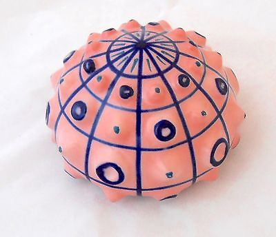 Sargadelos Sea Urchin Shell Figurine - Porcelain - Pink - NEW