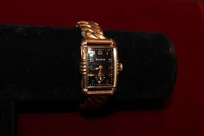 VINTAGE BULOVA Art Deco 12K Gold Filled Men's Watch Beautiful, Elegant
