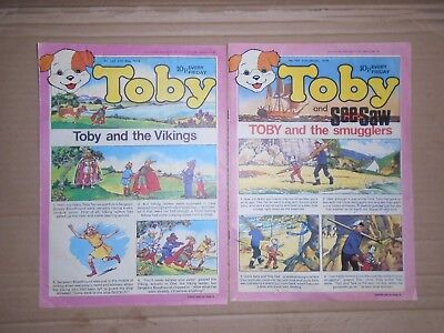 Toby mixed lot of 2 issues puzzles done  1978