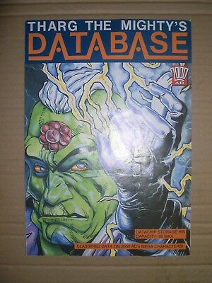 Tharg the Mighty's Database 2000AD free gift with some cards