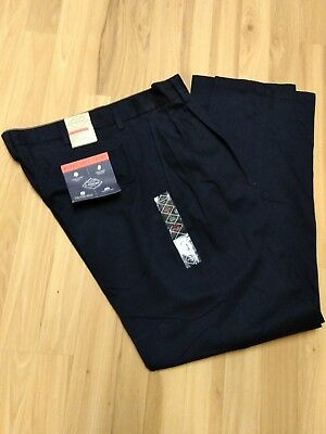77632c7701 Nwt St John's Bay Worry Free Chino Mens Pants Navy Pleated 35X32 Classic Fit